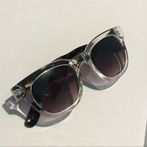 J. Crew Two-Tone Animal Clear Frame Sunglasses